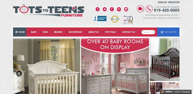 Tots to Teens Furniture